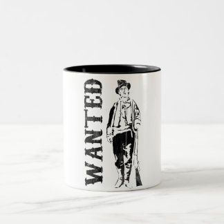 vintage billy the kid Two-Tone coffee mug