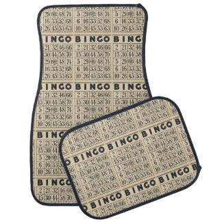 Vintage Bingo Card Car Mat Set