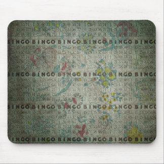 vintage bingo cards flowers mousepad