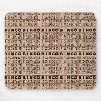 vintage bingo cards mouse pad