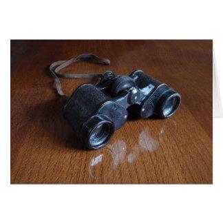Vintage Binoculars Card