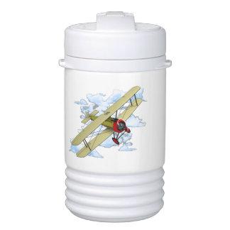 Vintage Biplane Flying Drinks Cooler