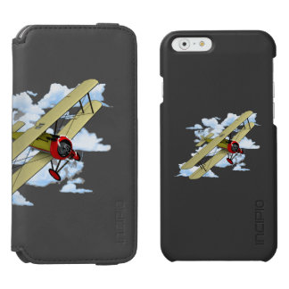 Vintage Biplane Flying Incipio Watson™ iPhone 6 Wallet Case