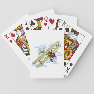 Vintage Biplane Flying Playing Cards