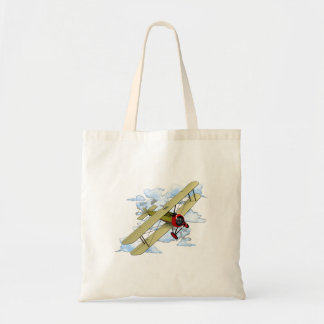 Vintage Biplane Flying Tote Bag