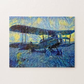 Vintage Biplane Jigsaw Puzzle
