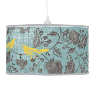 Vintage Bird and Floral Lamp Shade