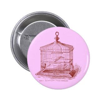 Vintage Bird Cage 2 Inch Round Button