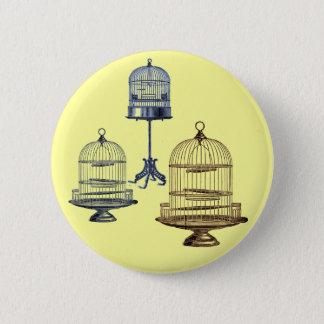Vintage Bird Cages 2 Inch Round Button