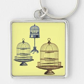 Vintage Bird Cages Keychain