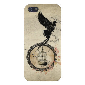 Vintage Bird Chained to Cage iPhone 5 Case