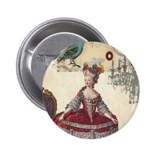 Vintage Bird Chandelier Marie Antoinette Paris 2 Inch Round Button
