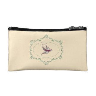 Vintage Bird Cosmetic Bag