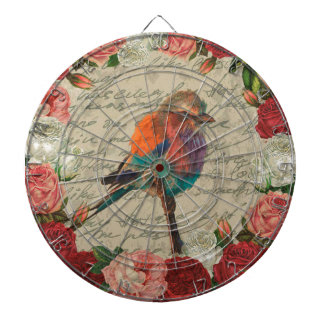Vintage bird dartboard