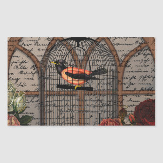 Vintage bird in the cage