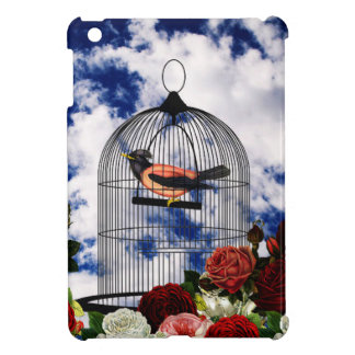 Vintage bird in the cage case for the iPad mini