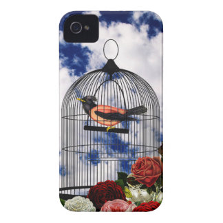 Vintage bird in the cage Case-Mate iPhone 4 case