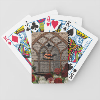Vintage bird in the cage poker deck