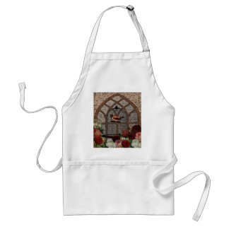 Vintage bird in the cage standard apron