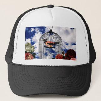 Vintage bird in the cage trucker hat