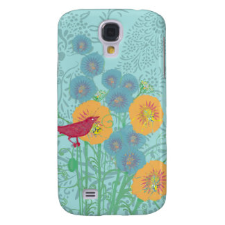 Vintage Bird Morning Glory iPhone Cover