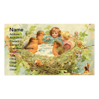 Vintage Bird Nest Tea Party Business Card
