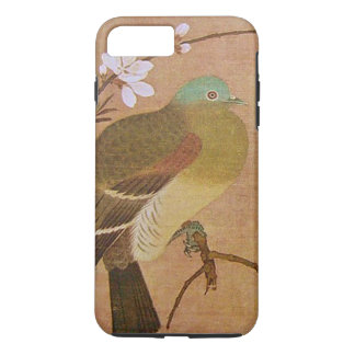 Vintage Bird on a Peach Branch iPhone 7 Plus Case