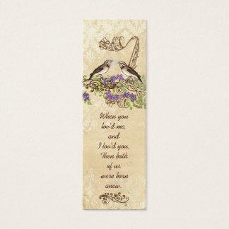 Vintage Bird Wedding Tags or Insert Website Cards