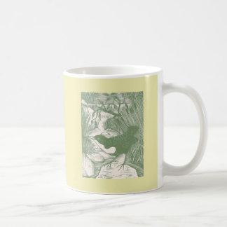 Vintage Bird Woodcut Illustration Classic White Coffee Mug