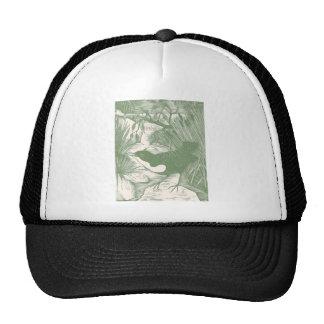 Vintage Bird Woodcut Illustration Trucker Hat