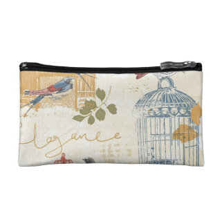 Vintage Birdcage - Small Cosmetic Bag