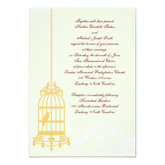 Vintage Birdcage Wedding Invitations