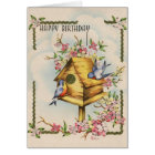 Vintage Birdhouse Birthday Card