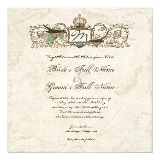 Vintage Birds Blue Egg - Wedding Invitation