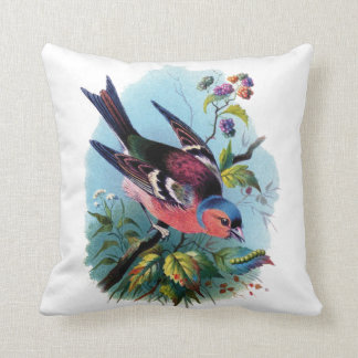 vintage birds cushion pillow