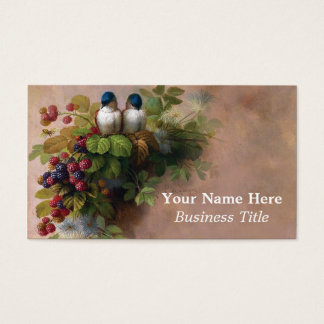 Vintage Birds Fine Art Painting Business Cards
