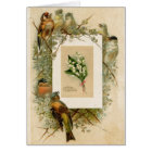 Vintage Birds Lily of the Valley Flowers Birthday Card