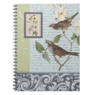 Vintage Birds...notebook Notebook