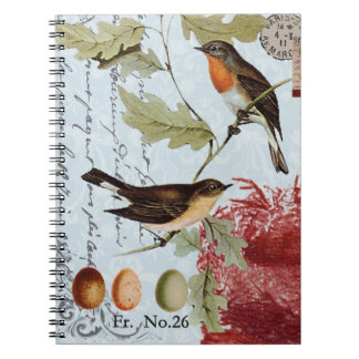 Vintage Birds of a Feather...notebook Notebook