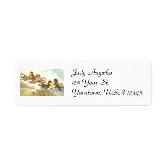Vintage Birds Return Address Labels