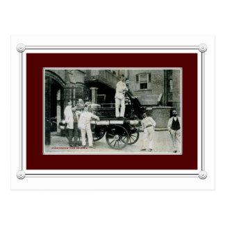 Vintage Birmingham Fire Brigade Postcard