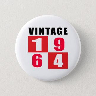Vintage Birthday 1964 2 Inch Round Button