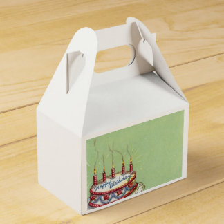 Vintage Birthday Cake Favor Box