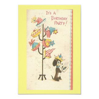 Vintage Birthday Dog Invitation