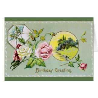 Vintage Birthday Greeting Card