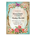 Vintage birthday style personalized invite