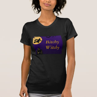Vintage Bitchy Witchy Halloween T-Shirt