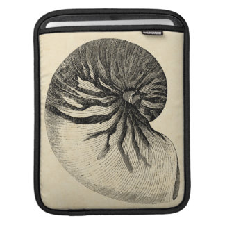 Vintage Black and White Conch Shell iPad Sleeves