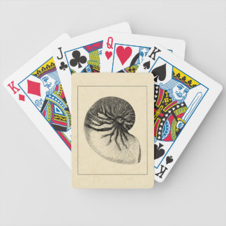 Vintage Black and White Conch Shell Poker Deck