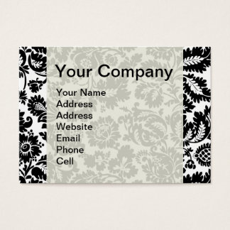Vintage Black and White Damask Business Card